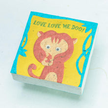 "Load image into Gallery viewer, POOPOOPAPER - Monkey ""LOVE LOVE ME DOO!!"" Scratch Pad (Set of 3)"
