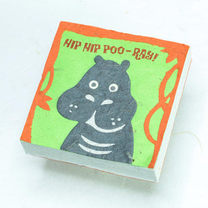 "Hippo ""Hip Hip POO-ray!"" Scratch Pad (Set of 3) - Front"