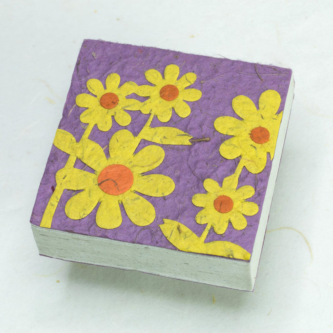 Flower Garden Scratch Pads - Yellow Bunch of Flowers (Set of 3)