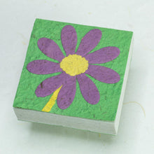 Load image into Gallery viewer, Flower Garden Scratch Pad - Single Purple Flower (Set of 3) - Front