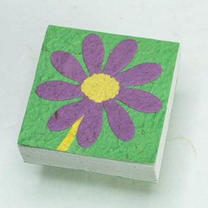 Flower Garden Scratch Pad - Single Purple Flower (Set of 3) - Front