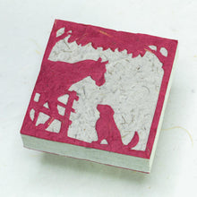 Load image into Gallery viewer, Eco-Friendly, Sustainable, Tree-Free Horse POOPOOPAPER Scratch Pads - Burgundy - Front