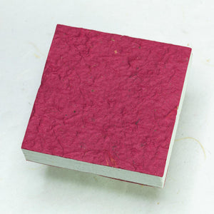 Eco-Friendly, Sustainable, Tree-Free Horse POOPOOPAPER Scratch Pads - Burgundy - Back