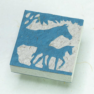 Eco-Friendly, Sustainable, Tree-Free Horse POOPOOPAPER Scratch Pads