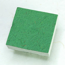 Load image into Gallery viewer, Eco-Friendly, Sustainable, Tree-Free Horse POOPOOPAPER Scratch Pads - Green - Back