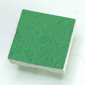 Eco-Friendly, Sustainable, Tree-Free Horse POOPOOPAPER Scratch Pads - Green - Back