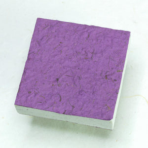 Eco-Friendly, Sustainable, Tree-Free Horse POOPOOPAPER Scratch Pads - Purple - Back