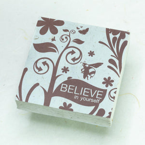 Inspirational POOPOOPAPER - Believe - Set of 3 Scratch Pads