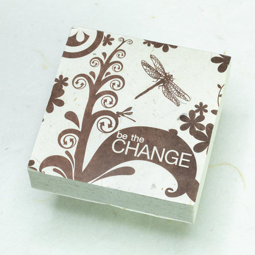 Eco-Friendly, Tree-Free - Set of 3 Scratch Pads -  Inspirational POOPOOPAPER - Change  -