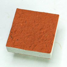 Load image into Gallery viewer, Made With Real Poo! Scratch Pad set - Organic, Tree-Free Cow Paper - Orange - Back