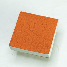 Load image into Gallery viewer, Made With Real Poo! - Horse POOPOOPAPER - Orange - Scratch Pad (Set of 3)