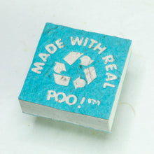 Load image into Gallery viewer, Made With Real Poo! - Horse POOPOOPAPER - Turquoise - Scratch Pad (Set of 3) - Front