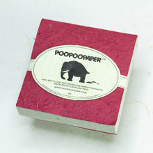 Load image into Gallery viewer, Classic Elephant POOPOOPAPER - Eco-Friendly and Tree-Free - Scratch Pad - Burgundy - (Set of 3) - Front