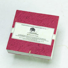 Load image into Gallery viewer, Classic Elephant POOPOOPAPER - Eco-Friendly and Tree-Free - Scratch Pad - Burgundy - (Set of 3) - Back