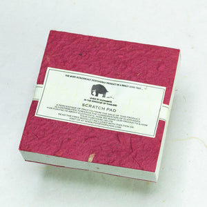 Classic Elephant POOPOOPAPER - Eco-Friendly and Tree-Free - Scratch Pad - Burgundy - (Set of 3) - Back
