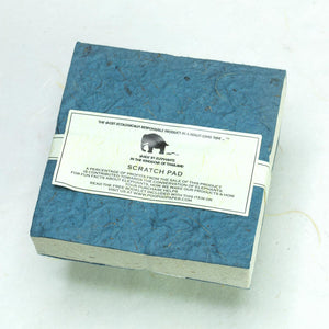 Classic Elephant POOPOOPAPER - Scratch Pad - Blue - (Set of 3) - Eco-friendly & Tree Free