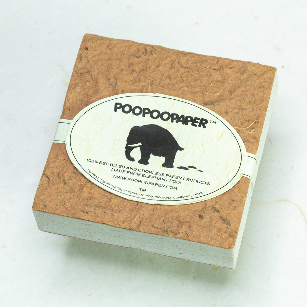 Classic Elephant POOPOOPAPER - Scratch Pad - Bark - (Set of 3) - Eco-friendly & Tree Free