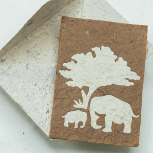 Greeting Card Elephant Mom & Baby - Bark - Front