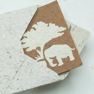 Greeting Card Elephant Mom & Baby - Bark - Front View 2