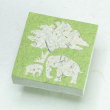 Load image into Gallery viewer, Eco-Friendly, Tree-Free Elephant Poo Scratch Pad -  Elephant Mom & Baby Grass - Set of 3 - Front