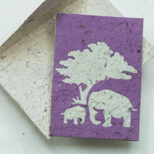 Load image into Gallery viewer, Greeting Card Elephant POOPOOPAPER  Mom & Baby - Purple