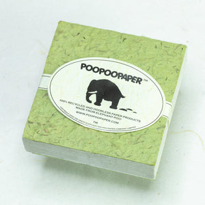 Classic Elephant POOPOOPAPER - Scratch Pad - Grass - (Set of 3) - Eco-friendly & Tree Free - Front