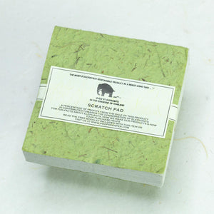 Classic Elephant POOPOOPAPER - Scratch Pad - Grass - (Set of 3) - Eco-friendly & Tree Free - Back