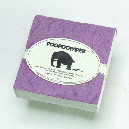 Classic Elephant POOPOOPAPER - Scratch Pad - Purple - (Set of 3) - Eco-Friendly & Tree-Free!!
