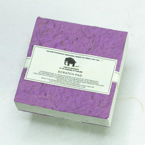 Classic Elephant POOPOOPAPER - Scratch Pad - Purple - (Set of 3) - Eco-Friendly & Tree-Free!! - Back