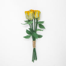 Load image into Gallery viewer, Bouquet of Six Yellow, Eco-Friendly, Sustainable POOPOOPAPER Roses - Full View
