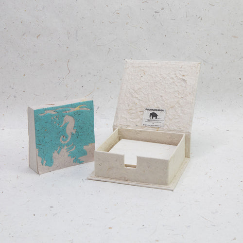 Sea Life Seahorse - Note Box and Scratch Pad Refill Set