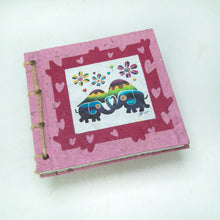 Load image into Gallery viewer, Artist Reproductions - Twine Journal and Scratch Pad - Thailand Themed Batik Art Set - Pink
