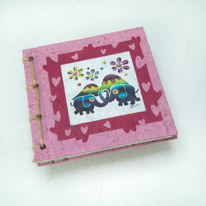 Artist Reproductions - Twine Journal and Scratch Pad - Thailand Themed Batik Art Set - Pink