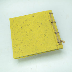 Artist Reproductions - Twine Journal and Scratch Pad - Thailand Themed Batik Art Set - Yellow