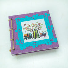 Load image into Gallery viewer, Twine Journal - Thailand Themed Batik Art Set - Purple