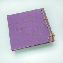 Load image into Gallery viewer, Artist Reproductions - Twine Journal and Scratch Pad - Thailand Themed Batik Art Set - Purple