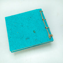 Load image into Gallery viewer, Artist Reproductions - Twine Journal and Scratch Pad - Thailand Themed Batik Art Set - Teal