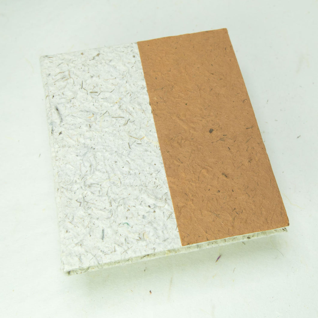 Two-Tone, Eco-Friendly, Tree-Free, Sustainable Journal made from Elephant POOPOOPAPER - Front - Bark