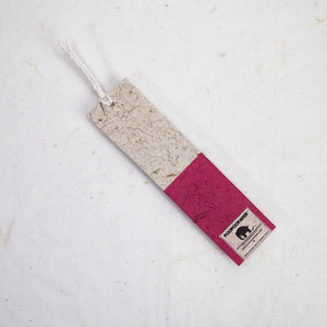 Classic Elephant POOPOOPAPER - Bookmarks - Burgundy - Set of 10