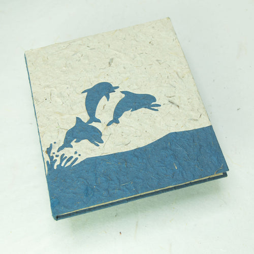 Sea-Life themed Dolphin Journal - Eco-Friendly, Tree-Free - POOPOOPAPER - Front