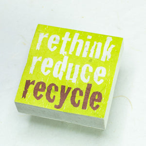 "Eco-Scratch Pad Elephant - ""RETHINK REDUCE RECYCLE"" (Set of 3)"