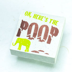 "Eco-Scratch Pad Elephant - ""OK, HERE'S THE POOP"" (Set of 3)"