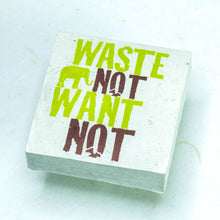 "Load image into Gallery viewer, Eco-Scratch Pad Elephant - ""WASTE NOT WANT NOT"" (Set of 3)"
