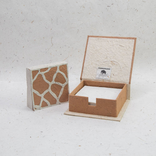 Jungle Safari Giraffe - Eco-Friendly, Tree-Free Note Box and Scratch Pad Refill Set by POOPOOPAPER -