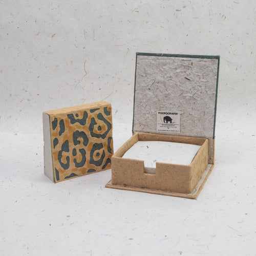 Jungle Safari Jaguar - Eco-Friendly, Tree-Free Note Box and Scratch Pad Refill Set by POOPOOPAPER