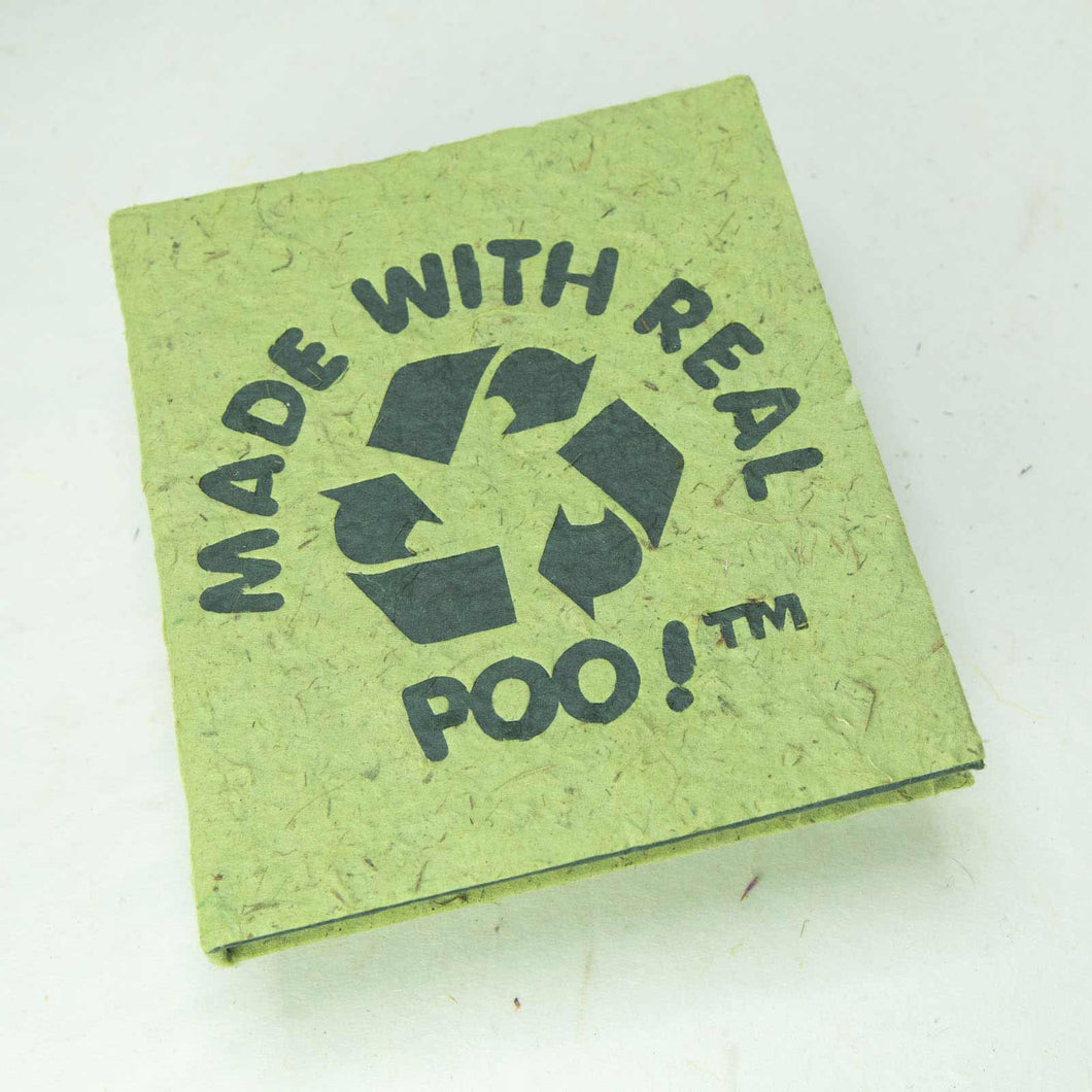 POOPOOPAPER Journal -  Made With Real Poo - Eco-Friendly Grass Journal - Front