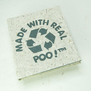 Made With Real Poo - Eco-Friendly Natural Journal - Front