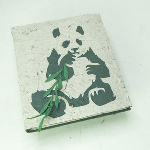 Eco-Friendly, Tree-Free POOPOOPAPER - Journal Panda Sitting - Front