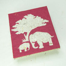 Load image into Gallery viewer, Eco-Friendly, Tree-Free, Classic Elephant POOPOOPAPER - Mom & Baby Journal - Burgundy - Front