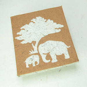 Eco-Friendly, Tree-Free, Classic Elephant POOPOOPAPER - Mom & Baby Journal - Bark - Front